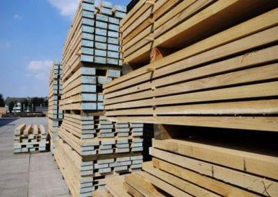 Schnittholz vor der Einlagerung