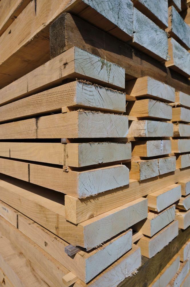 Robinienholz Geschalte Stamme Pfahle Und Schnittholz